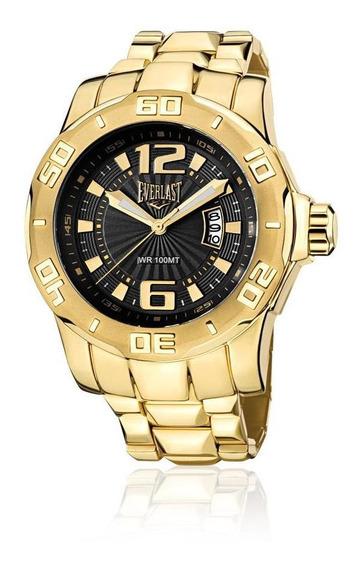 Relógio Pulso Everlast Masculino Aço Calendário E662