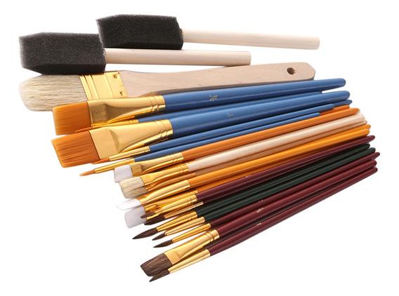 Set De 25 Piezas Pinceles Pintura Al Óleo Acuarela