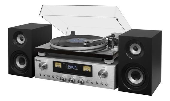 Toca-discos Raveo Concert One Vitrola Rádio Cd Bluetooth Usb