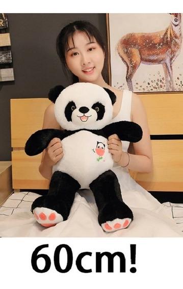 Urso Panda Pelúcia Macia Grande 60 Cm Presente Crianças