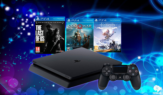 Play Station 4 Slim 1 Tb 3 Bundle Hits