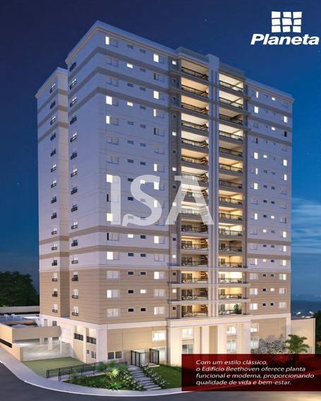 Vendo Imóvel, Apartamento No Edifício Beethoven (planeta) No Mangal Em Sorocaba, 3 Dormitórios Sendo Todas Suites E 1 Com Closet, Sala 3 Ambientes - Ap02144 - 34458049