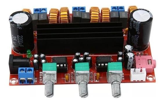 Amplificador 2.1 100w + 50w + 50w Rms Tpa3116 12/24v 8a