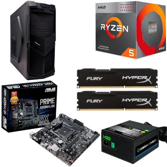 Pc 3521 Amd Ryzen R5 3400g Asus Prime A320m K Hx 16gb Gm500