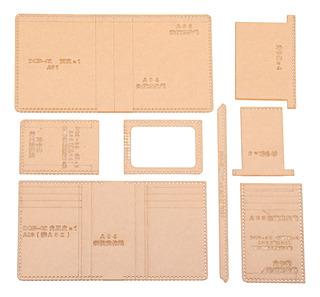 Novo 8 Pcs 1 Conjunto De Couro Craft Acrílico Carteira Curta