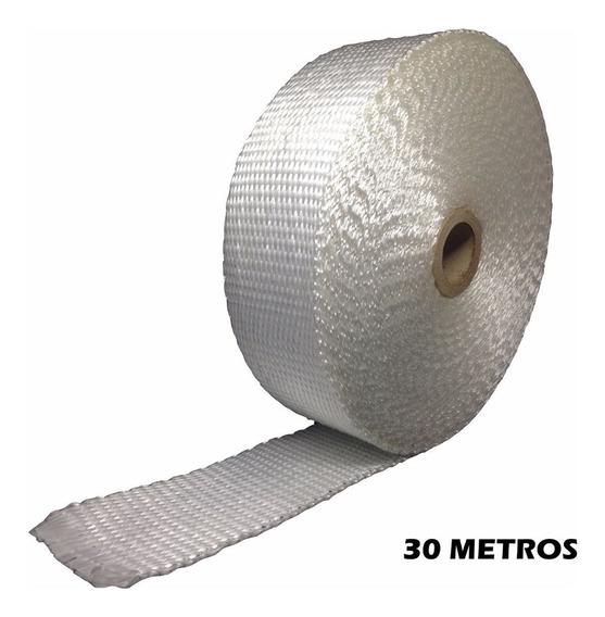 Fita Térmica Branca, Termotape Para Escapamento 30 Metros