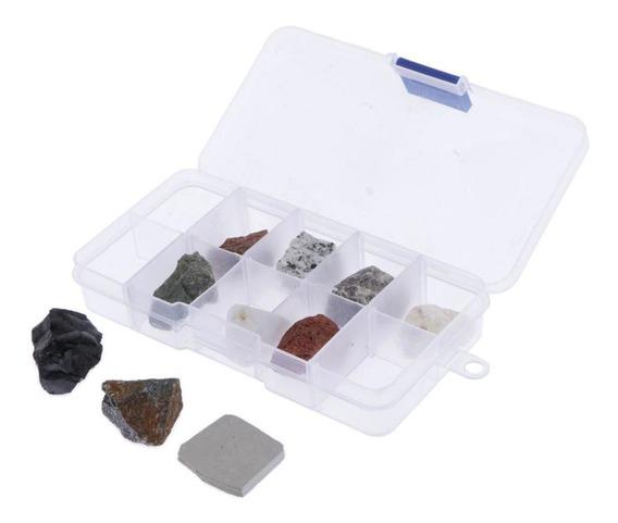 Colección De Piedras Y Rocas Minerales Espécimen De