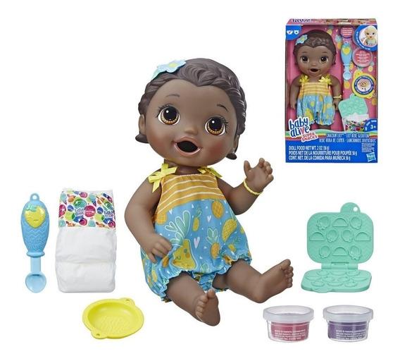 Nova Baby Alive Lanchinho Divertido Negra E5839 - Hasbro