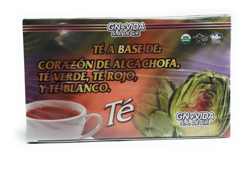 Te Corazon De Alcachofa Gn+vida 30 Sobres Envio Full