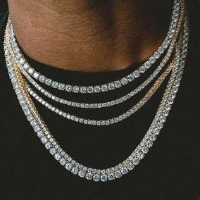 Colar Riviera Tennis Chain - Banhada A Ouro 18k - (unidade)