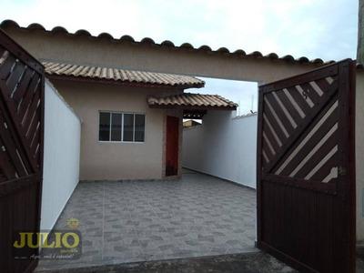 Entrada R$ 34.000,00 + Saldo Super Facilitado, Use Seu Fgts, Casa 2 Dormitórios Em Itanhaém - Ca3278