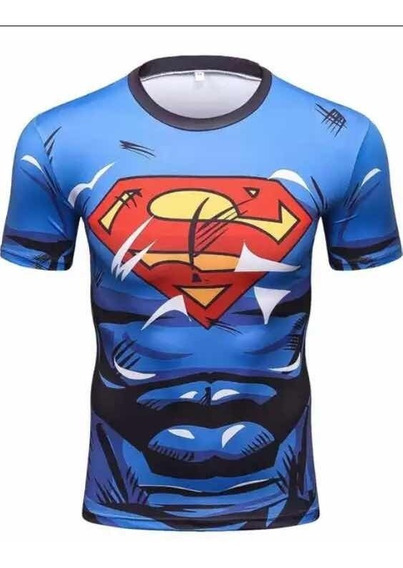 3 Playeras Batman,súper Y Run Set Gym Dry Fit Paquete