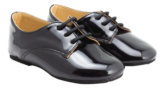 Sapato Social Infantil Masculino C/ Cadarço Vnz Ludique Et B