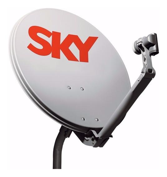 Kit 2 Antenas Sky Pacotão Completa Frete Grátis! Na Caixa!