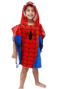 Poncho Con Capucha Toalla Para Baño Spiderman Cdmx Df