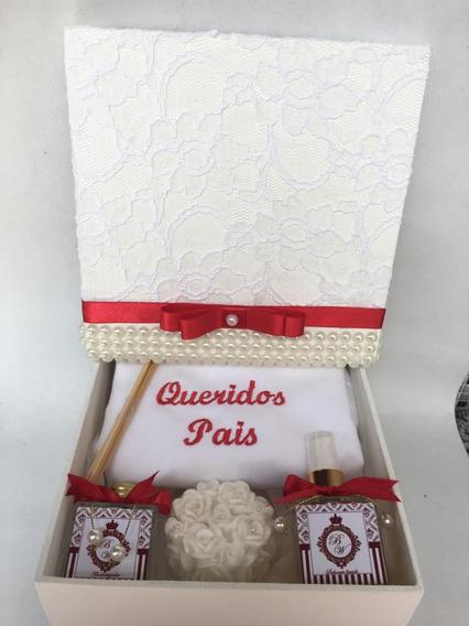 Caixa Luxo Lembrança Personalizada Para Os Pais Dos Noivos