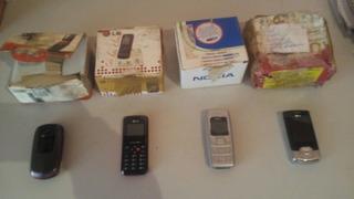 Celular Nokia 1600 Lg Kf245 Samsung Kit Lote Com 4 Defeito
