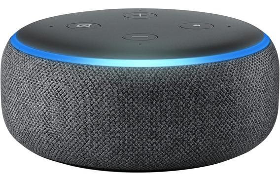 Smart Speaker Amazon Echo Dot Alexa 3ª Geração Lacrado Preto