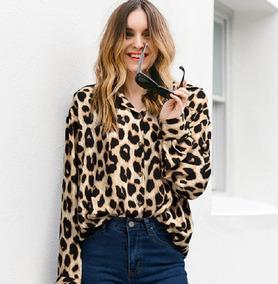 Blusa Camisa Feminina Animal Oncinha Print