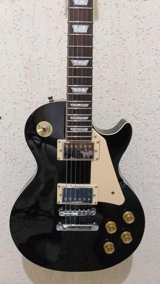 Guitarra Michael Les Paul Gm730 Preta Nova C/pequena Avaria
