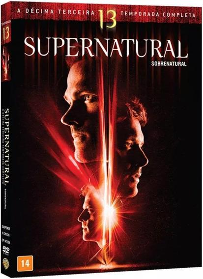 Box Dvd Supernatural - 13ª Temporada Novo E Lacrado!