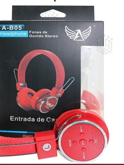 Fone De Ouvido Bluetooth Sem Fio Wireless B-05 Vermelho