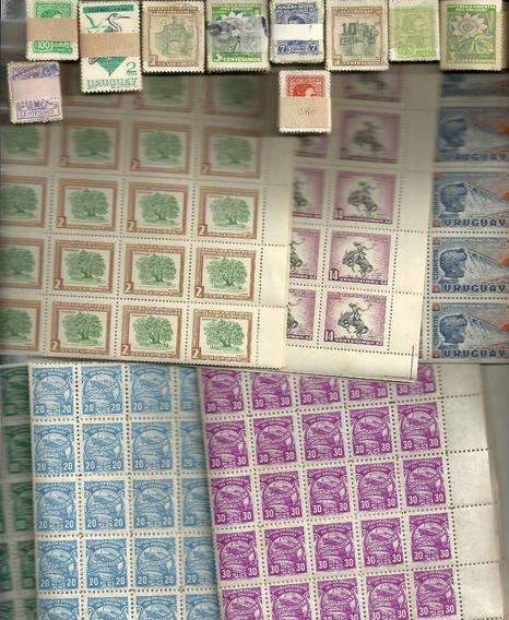 2500 Estampillas De Uruguay En Planchas O Paquetes, Oferta!!