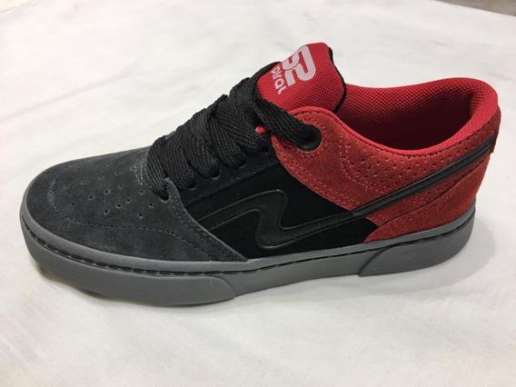 Zapatillas Urbanas/skater Spiral Shoes Pow 2020 Rojo Y Gris