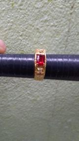 Anel Formatura Direito Com Brasões Folheado A Ouro 18k Novo