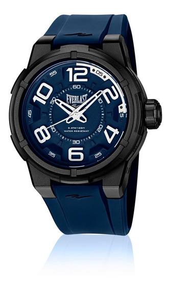 Relógio Masculino Everlast Esporte E692 48mm Silicone Azul