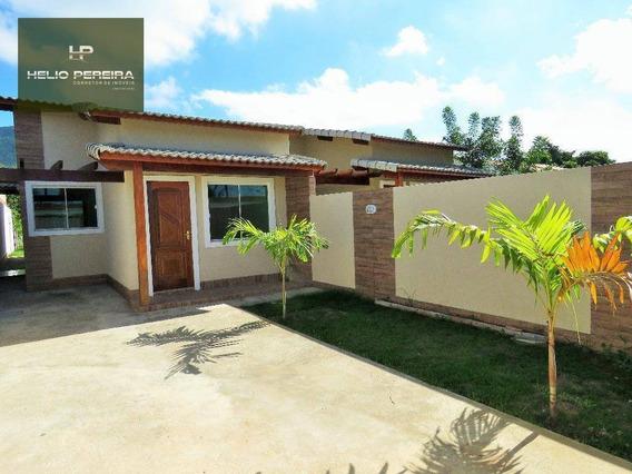 Casa Com 2 Quartos, Sendo 1 Suíte E Churrasqueira Em Itaipuaçu - Ca0351