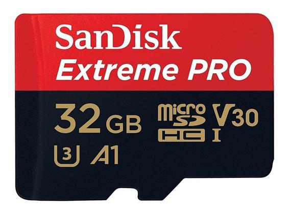 Cartão Micro Sd Sandisk Extreme Pro 32gb 100mb 4k Drone Lacr