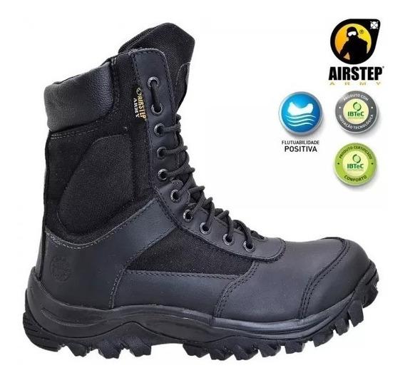 Bota Lightness Confort Airstep 8627-1 -black Preto