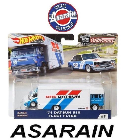 Datsun 510 Bre Fleet Flyer Team Transport C Hot Wheels 1/64
