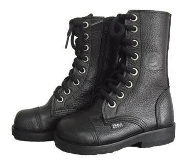 Coturno Infantil Vilela Boots Moto Rock - Couro Cano Baixo