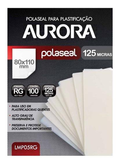 Refil Polaseal Para Plastificação Rg 100 Unidades Aurora