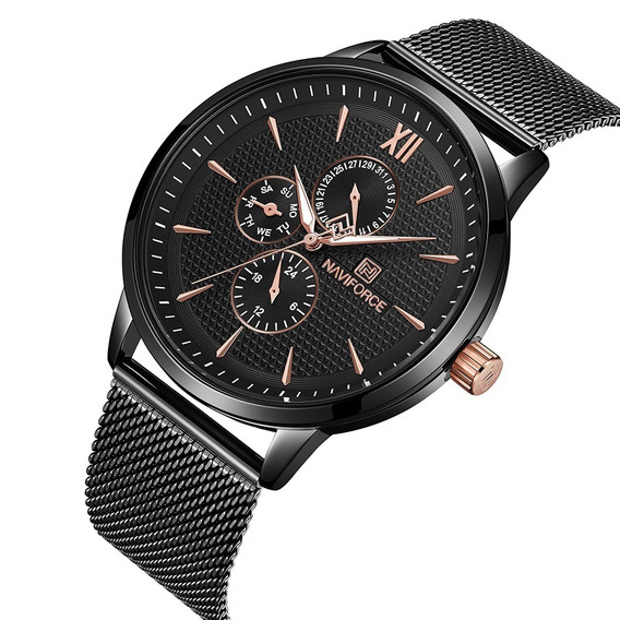 Relógio Masculino Naviforce Luxo Social Lançamento 3003