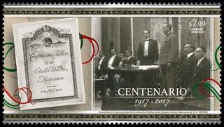 2017 Centenario Constitución Política De México 1917 Mnh