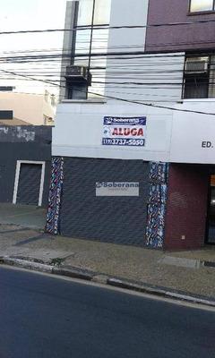 Salão Para Alugar, 250 M² Por R$ 6.000/mês - Centro - Campinas/sp - Sl0410