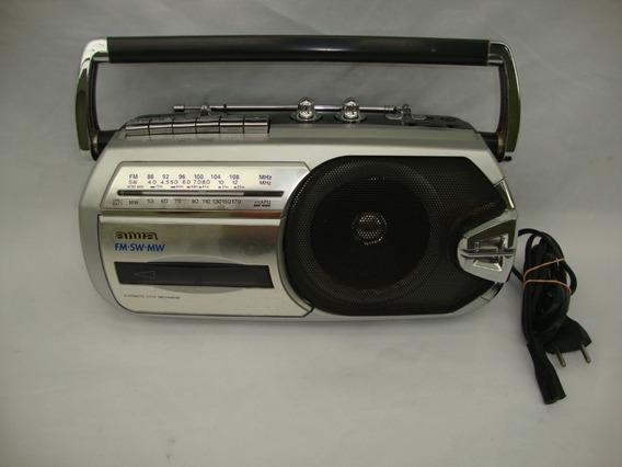 Antigo Radio Aiwa Am Fm E Toca Fitas Funcionando Anos 90