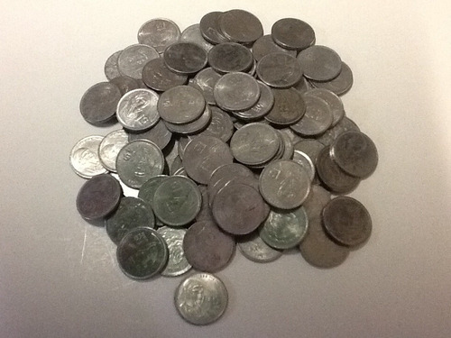 Imagen 1 de 2 de Moneda De Un Peso Morelos Acero  1985-1986-1987  Lote De 10