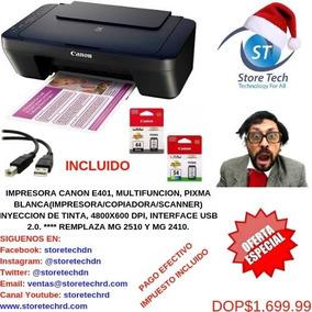 Impresora Canon E401, Multifuncion, Pixma Blanca (impresora/