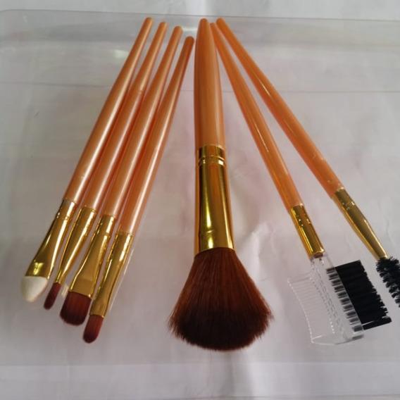 Kit Jogo 07 Pinceis Profissional Maquiagem Importado Top .