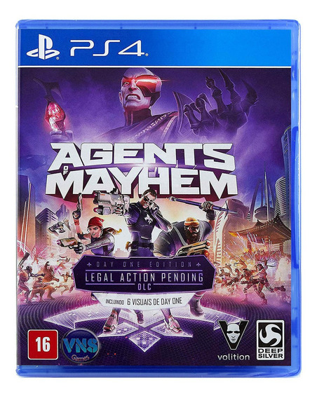 Agents Of Mayhem - Ps4 - Leg Pt - Mídia Física - Lacrado