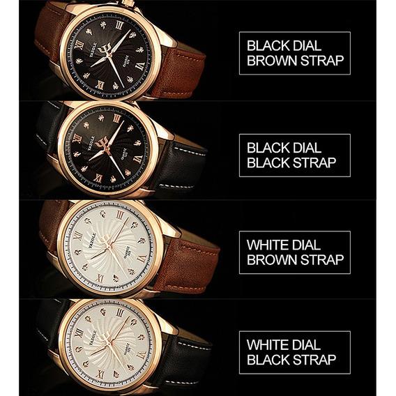 Homens Moda Luxo Couro Faux Escala Cristal Quartzo Relógios