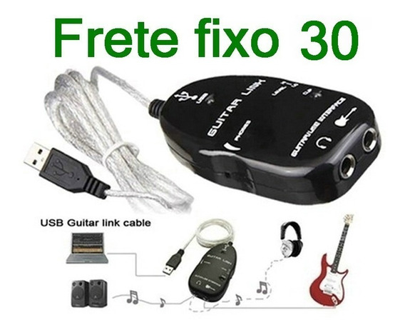 Guitar Link Interface Usb Guitar Link Guitarra Baixo Violão