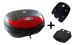 Bau Moto 45 Litros Pro Tork + Bagageiro Xtz150 Crosser