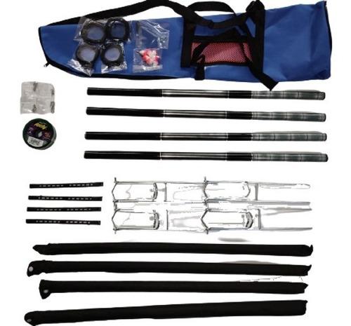 Imagem 1 de 7 de Kit Pesca 4 Varas Telescopica 2x 3,60  2 X 4,00 Com Bolsa !!