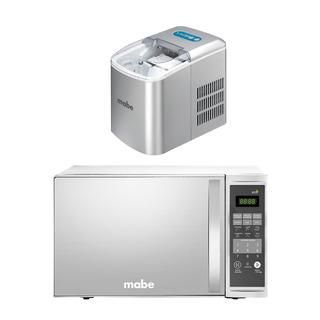 Combo Mabe: Horno Microondas 1.4pc + Fabricador De Hielo 2.2