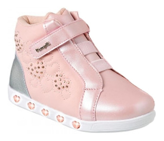 Tênis Pampili Sneaker Rosa Novo Sem Frete Luz 010420